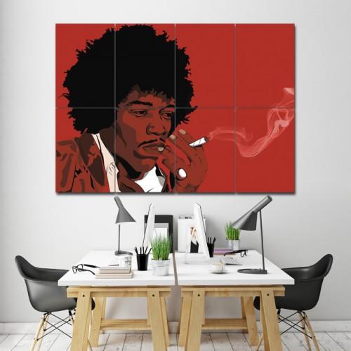 โปสเตอร์ ขนาดใหญ่ ภาพนักกีตาร์ Jimi Hendrix จิมิ เฮนดริกซ์