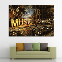 Music Block Giant Wall Art Poster (P-0560)