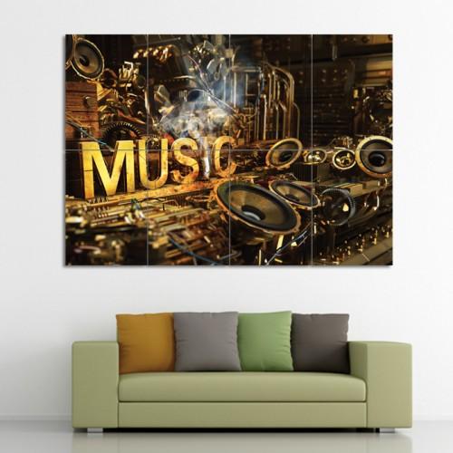 โปสเตอร์ ขนาดใหญ่ ขนาดใหญ่ ภาพศิลปะ Music