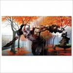 โปสเตอร์ ขนาดใหญ่ เกมส์ God Of War Kratos ก็อด ออฟ วอร์