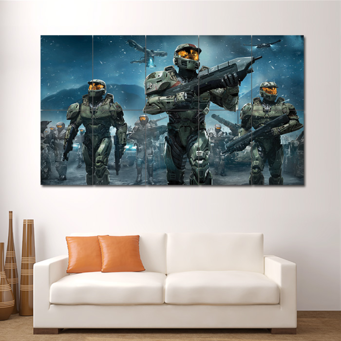 Halo Wars Game Block Giant Wall Art Poster