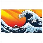โปสเตอร์ ขนาดใหญ่ ภาพคลื่นยักษ์ Japanese Style Waves