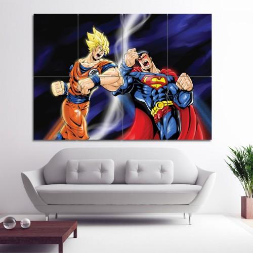 โปสเตอร์ ขนาดใหญ่ โงกุน ปะทะ ซุปเปอร์แมน Superman VS Goku