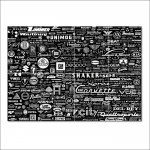 World Car Logo Badges  Block Giant Wall Art Poster