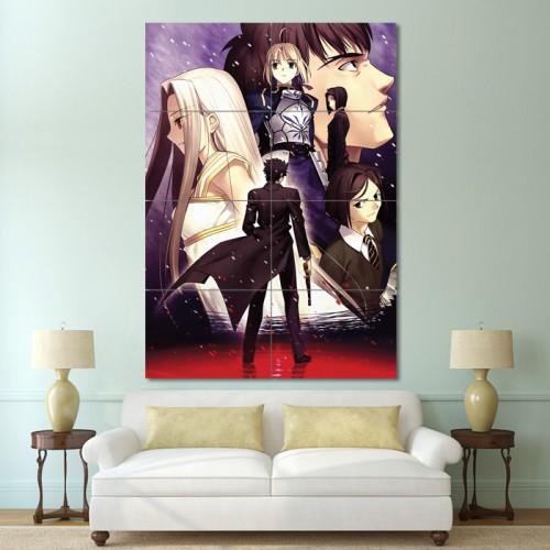 โปสเตอร์ ขนาดใหญ่ การ์ตูนอนิเมะ Fate Zero / Fate Stay Night