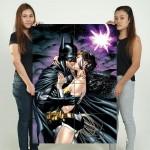 โปสเตอร์ ขนาดใหญ่ Batman Kissing Wonder Woman