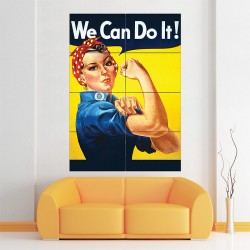 We Can Do It ! - Rosie the Riveter Block Giant Wall Art Poster (P-0584)