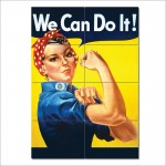We Can Do It ! Block Giant Wall Art Poster