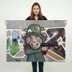 โปสเตอร์ ขนาดใหญ่ ภาพศิลปะ LA Street Graffiti