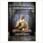 Banksy Buddha Block Giant Wall Art Poster