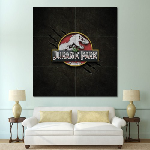 โปสเตอร์ ขนาดใหญ่ ไดโนเสาร์  Jurassic Park จูราสสิค พาร์ค , ไดโนเสาร์