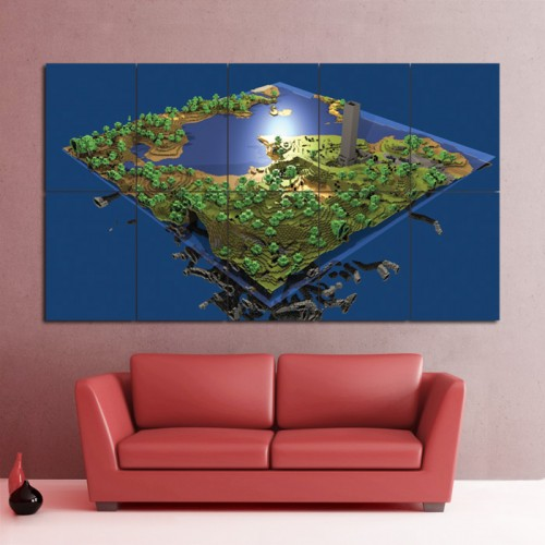 โปสเตอร์ ขนาดใหญ่ เกมส์ Minecraft PC Game เกมส์มายคราฟ