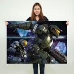 โปสเตอร์ ขนาดใหญ่ Halo Soldier Weapon Spartans