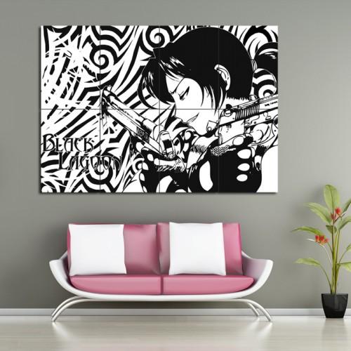 โปสเตอร์ ขนาดใหญ่ ภาพการ์ตูนอนิเมะ Black Lagoon