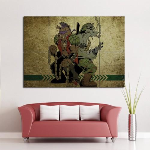 โปสเตอร์ ขนาดใหญ่ ภาพการ์ตูนอนิเมะ Bebop and Rocksteady