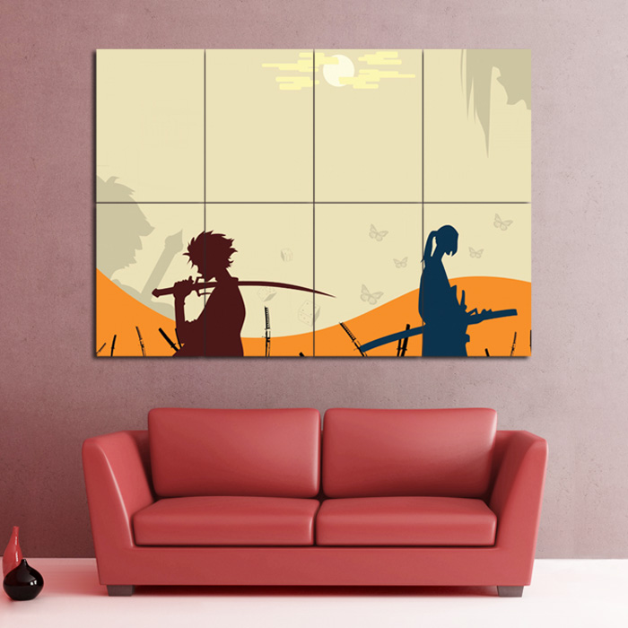 Samurai Champloo Manga Anime Block Giant Wall Art Poster