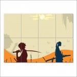 Samurai Champloo Manga Anime Block Giant Wall Art Poster