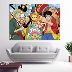 Straw Hat Pirates One Piece Manga Block Giant Wall Art Poster (P-0648)