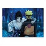 โปสเตอร์ ขนาดใหญ่ ภาพการ์ตูน นินจานารูโตะ Naruto and Sasuke Uchiha