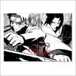 โปสเตอร์ ขนาดใหญ่ ภาพการ์ตูนนินจานารูโตะ Naruto And Sasuke Uchiha