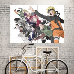 Naruto Manga Anime Version 14 Block Giant Wall Art Poster (P-0705)