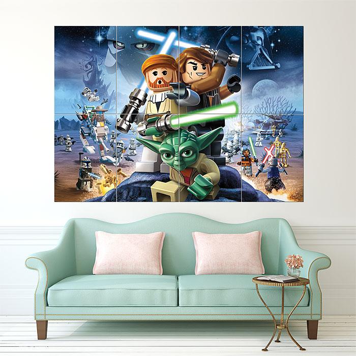 Lego Star Wars Block Giant Wall Art Poster Part 84