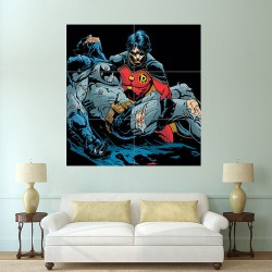 โปสเตอร์ ขนาดใหญ่ การ์ตูน Batman and Robin แบทแมน กับ โรบิน (P-0763)