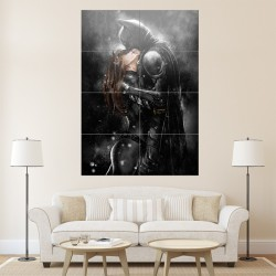 Batman Kissing Catwoman Block Giant Wall Art Poster (P-0765)