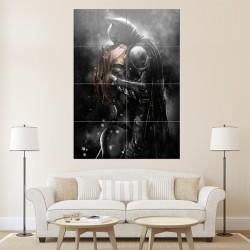 โปสเตอร์ ขนาดใหญ่ การ์ตูน Batman Kissing Catwoman (P-0765)