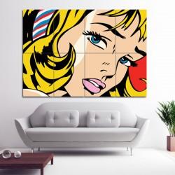 โปสเตอร์ ขนาดใหญ่ ภาพศิลปะ Roy Lichtenstein Girl (P-0767)