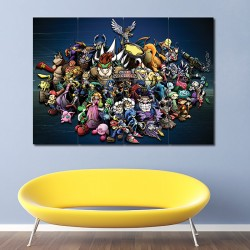 Super Smash Bros Block Giant Wall Art Poster (P-0780)