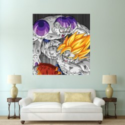Dragon Ball Z Goku vs Frieza Block Giant Wall Art Poster (P-0785)