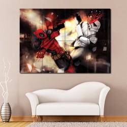 โปสเตอร์ ขนาดใหญ่ ภาพการ์ตูน Deadpool vs Star Wars (P-0792)