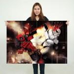 โปสเตอร์ ขนาดใหญ่ ภาพการ์ตูน Deadpool vs Star Wars สตอร์มทรูปเปอร์ , เดดพูล