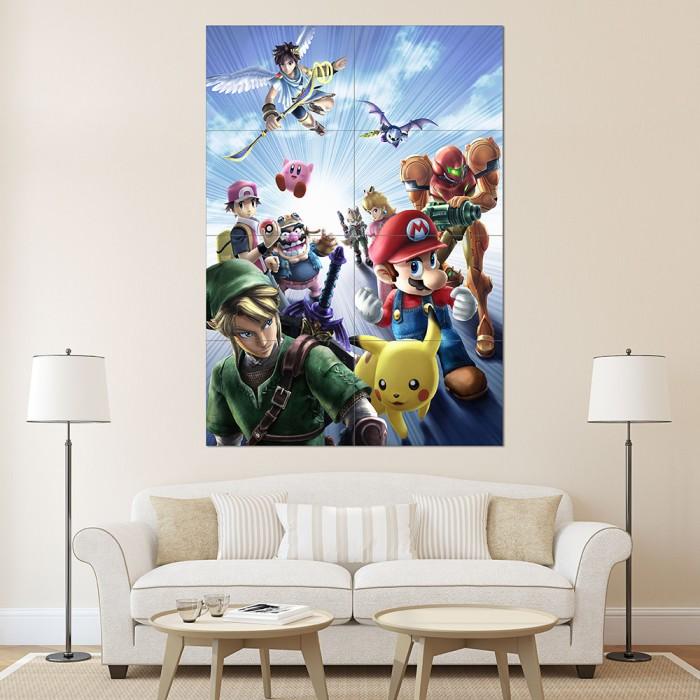 Giant Wall Art super smash bros anime block giant wall art poster