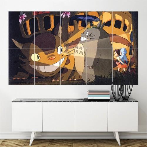 โปสเตอร์ ขนาดใหญ่ ภาพการ์ตูน โทโทโร่เพื่อนรัก Totoro Anime Manga