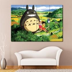 Mein Nachbar Totoro Anime Manga Wand-Kunstdruck Riesenposter (P-0804)