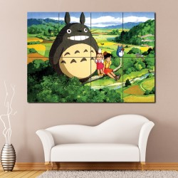 My Neighbor Totoro Anime Manga Block Giant Wall Art Poster (P-0804)
