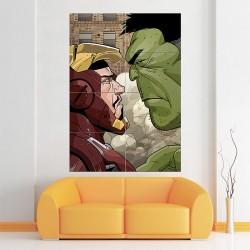 โปสเตอร์ ขนาดใหญ่ ภาพ Iron Man and The Hulk   (P-0816)