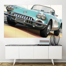 Electric Blue Skies Forza Motorsport 4 Block Giant Wall Art Poster (P-0873)