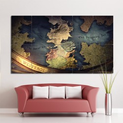 Game Of Thrones Map Block Giant Wall Art Poster (P-0876)