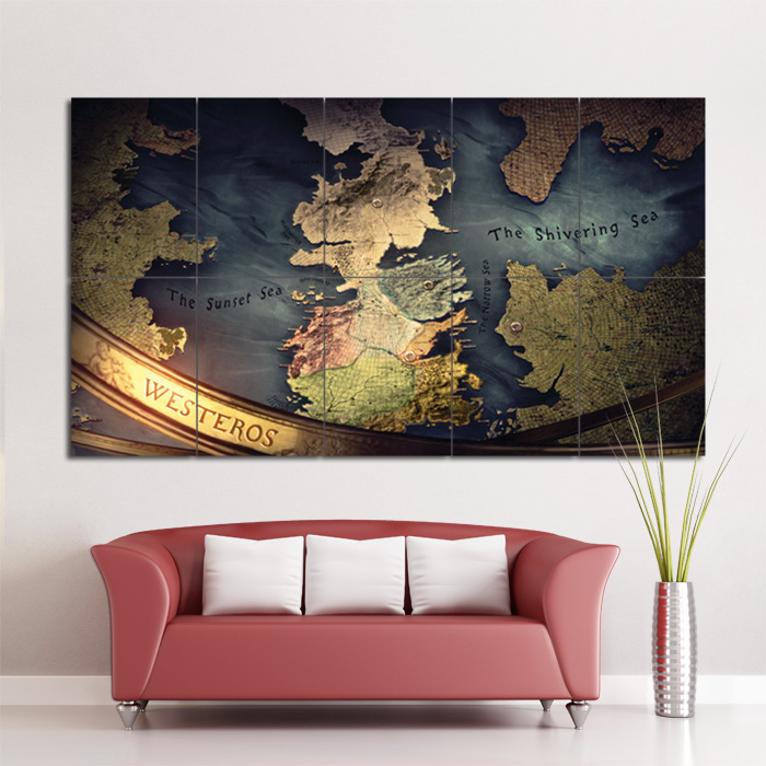 Game of thrones map block giant wall art poster gumiabroncs Image collections