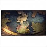 โปสเตอร์ ขนาดใหญ่ ภาพ Game Of Thrones Map