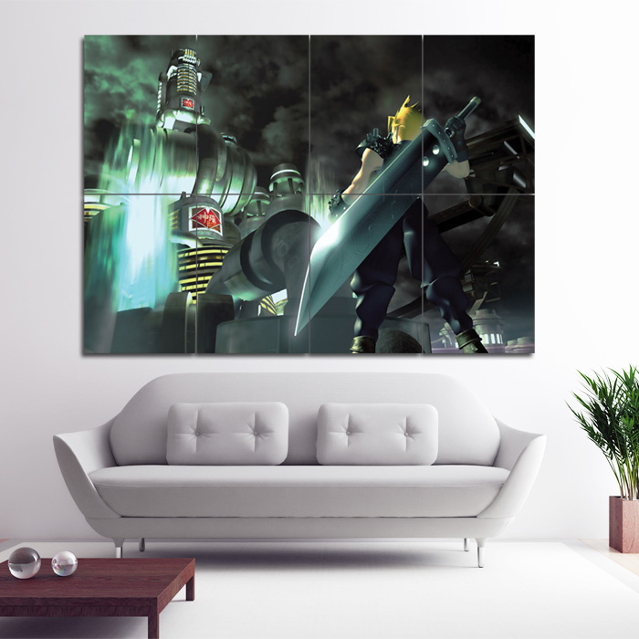 Final Fantasy VII Block Giant Wall Art Poster