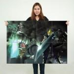 โปสเตอร์ ขนาดใหญ่ เกมส์ Final Fantasy VII ไฟนอลแฟนตาซี