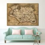 โปสเตอร์ ขนาดใหญ่ เกมส์ Province of Skyrim Map