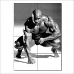 โปสเตอร์ ขนาดใหญ่ นักกีฬาเพาะกาย  Bodybuilding Ronnie Coleman