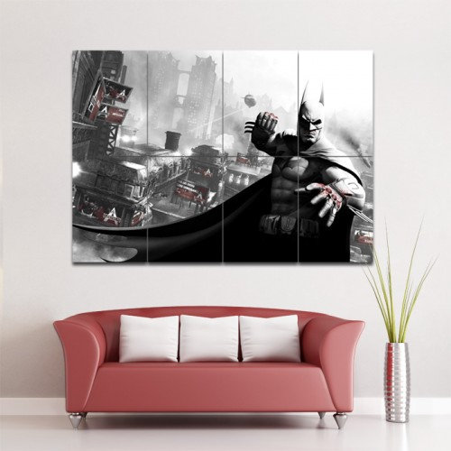 โปสเตอร์ ขนาดใหญ่ เกมส์ Batman Arkham City