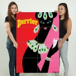 Perrier Advertising Vintage Sign Block Giant Wall Art Poster