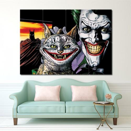 โปสเตอร์ ขนาดใหญ่ ภาพการ์ตูน Batman The Joker Bull  โจ๊กเกอร์